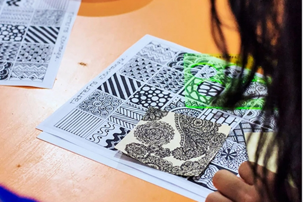 Atelier Zentangle au Sylabs